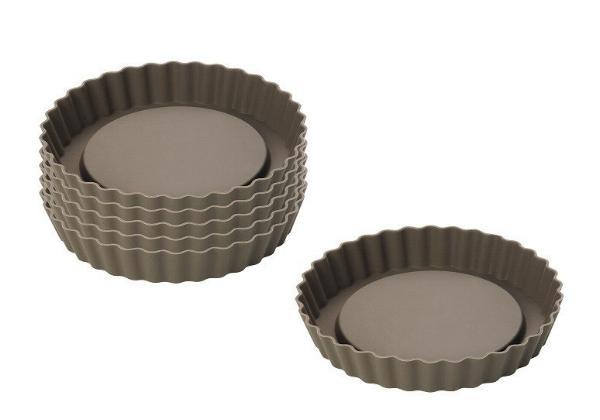 6er set tortelett f rmchen silikon backform t rtchenform. Black Bedroom Furniture Sets. Home Design Ideas