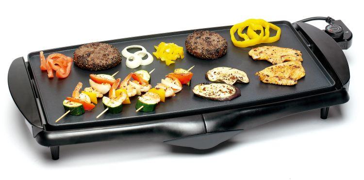 Bestron dbr123 elektrischer teppan yaki tischgrill for Que cuisiner a la plancha
