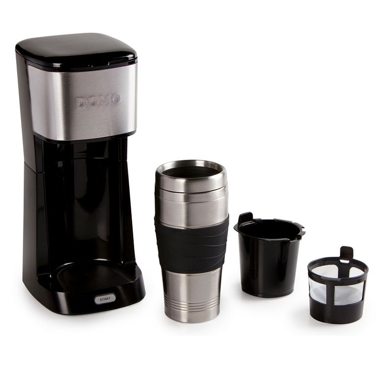 coffee to go maschine kaffeemaschine mit 400ml edelstahl thermnobecher schwarz ebay. Black Bedroom Furniture Sets. Home Design Ideas