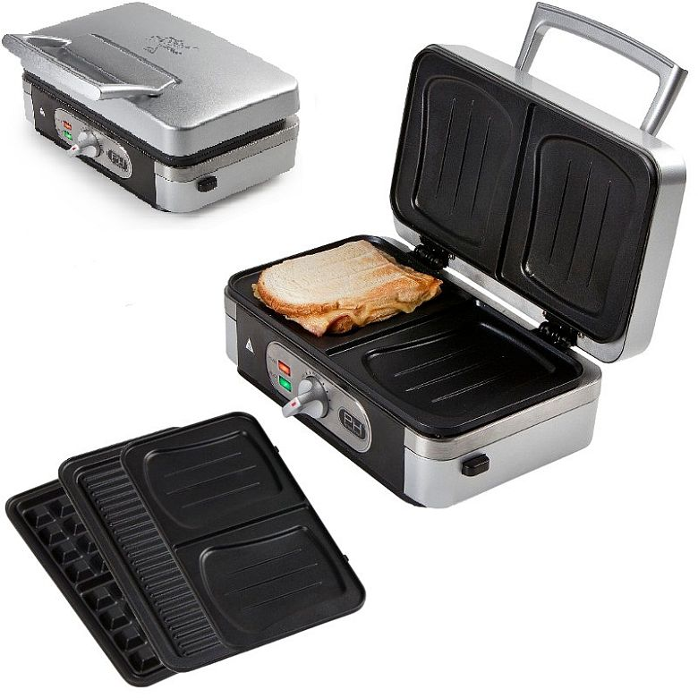 3in1 waffeleisen sandwichmaker kontaktgrill kombiger t ebay. Black Bedroom Furniture Sets. Home Design Ideas