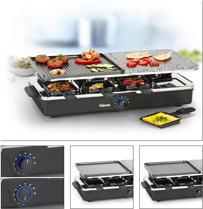 raclette raclett grill hei er stein grillplatte f r 8 personen raclettegrill ebay. Black Bedroom Furniture Sets. Home Design Ideas